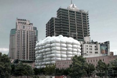 ساختمان حبابی برای مبارزه با آلودگی هوا در شانگهای چین ۲نبش